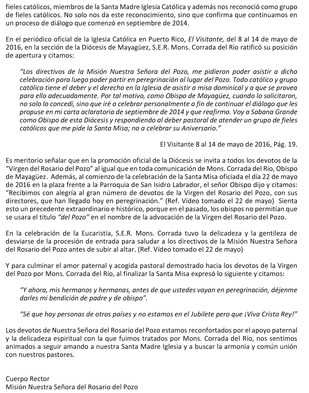 2POSICION ACTUAL OBISPO MAYAGUEZ - CARTA PARA MEDIOS -  7-4-16 final-2